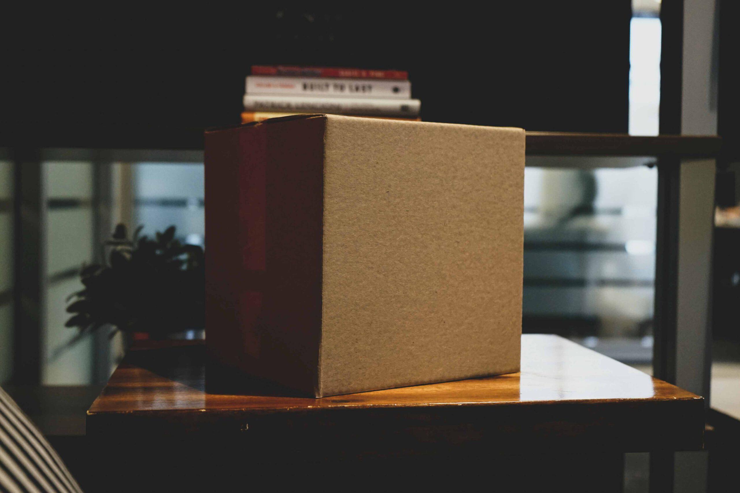 Kartonnen dozen van de Dozenhal